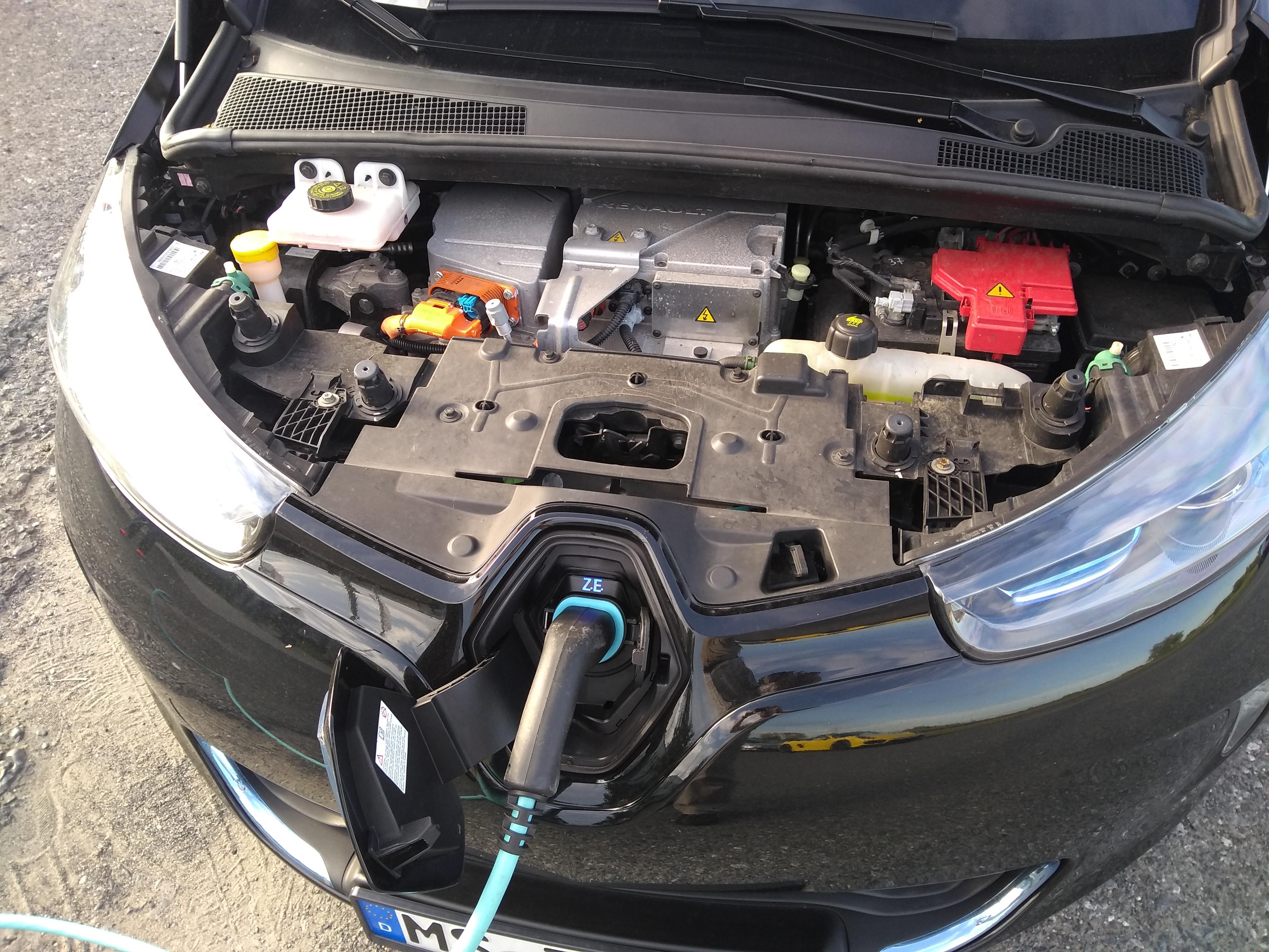 Motorraum Renault Zoe
