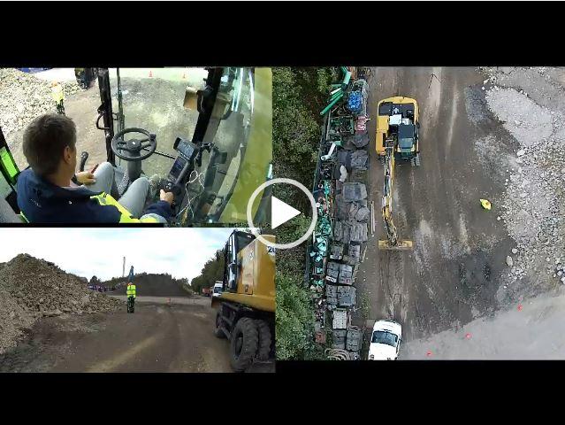 Umschlagen des Dummys aus 3 Perspektiven (Video)