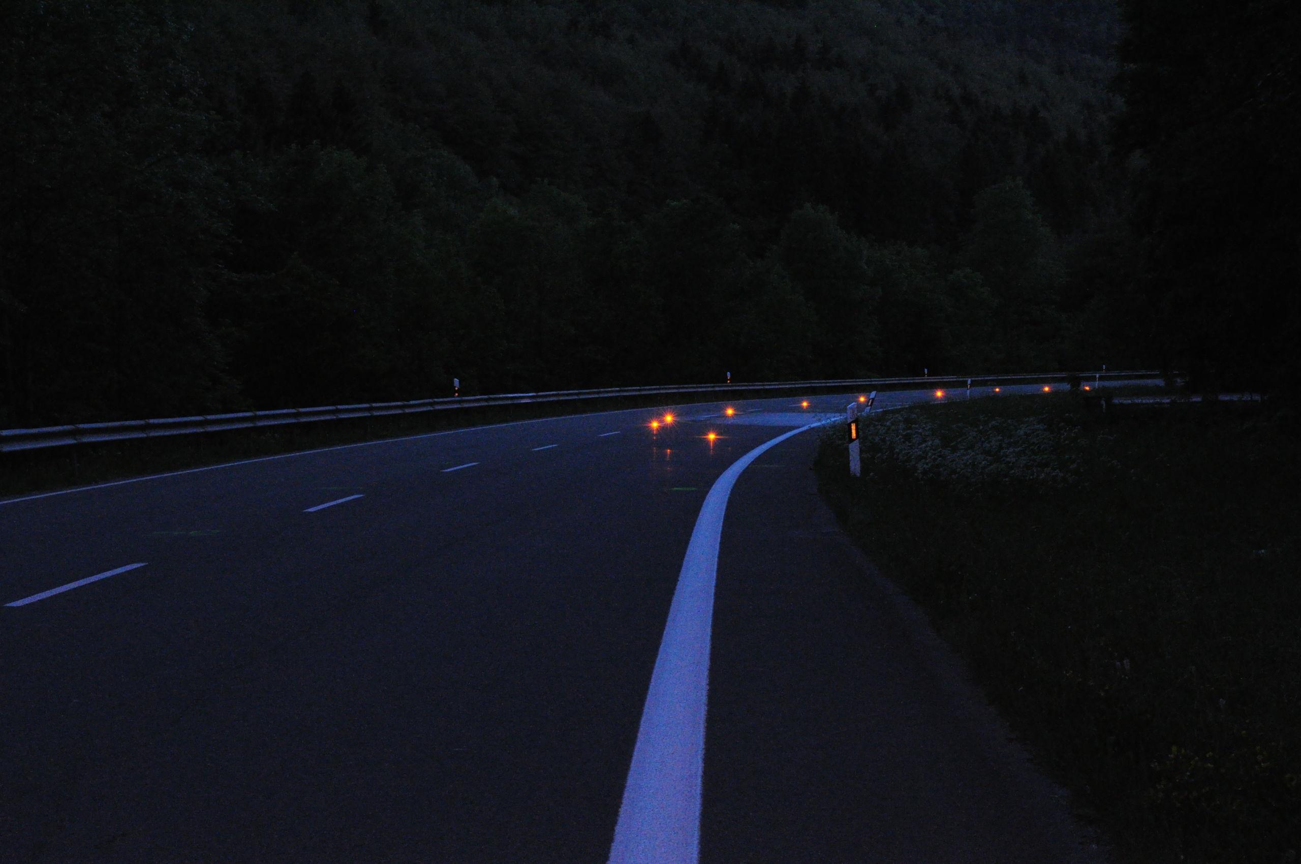 Unfallort mit Nightsearchern kenntlich machen